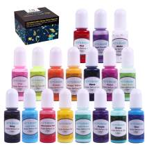 LET'S Resin 18 Colors Epoxy Pigment, Opaque Liquid Resin Colorant Each 0.35oz, Non-Toxic Epoxy Resin Dye Solid Color Liquid Dye for Resin Jewelry DIY Crafts Art Making