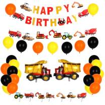 Construction Birthday Party Supplies, Dump Truck Party Decorations,Construction Party for Boys, Kits Set for Kids Birthday Party