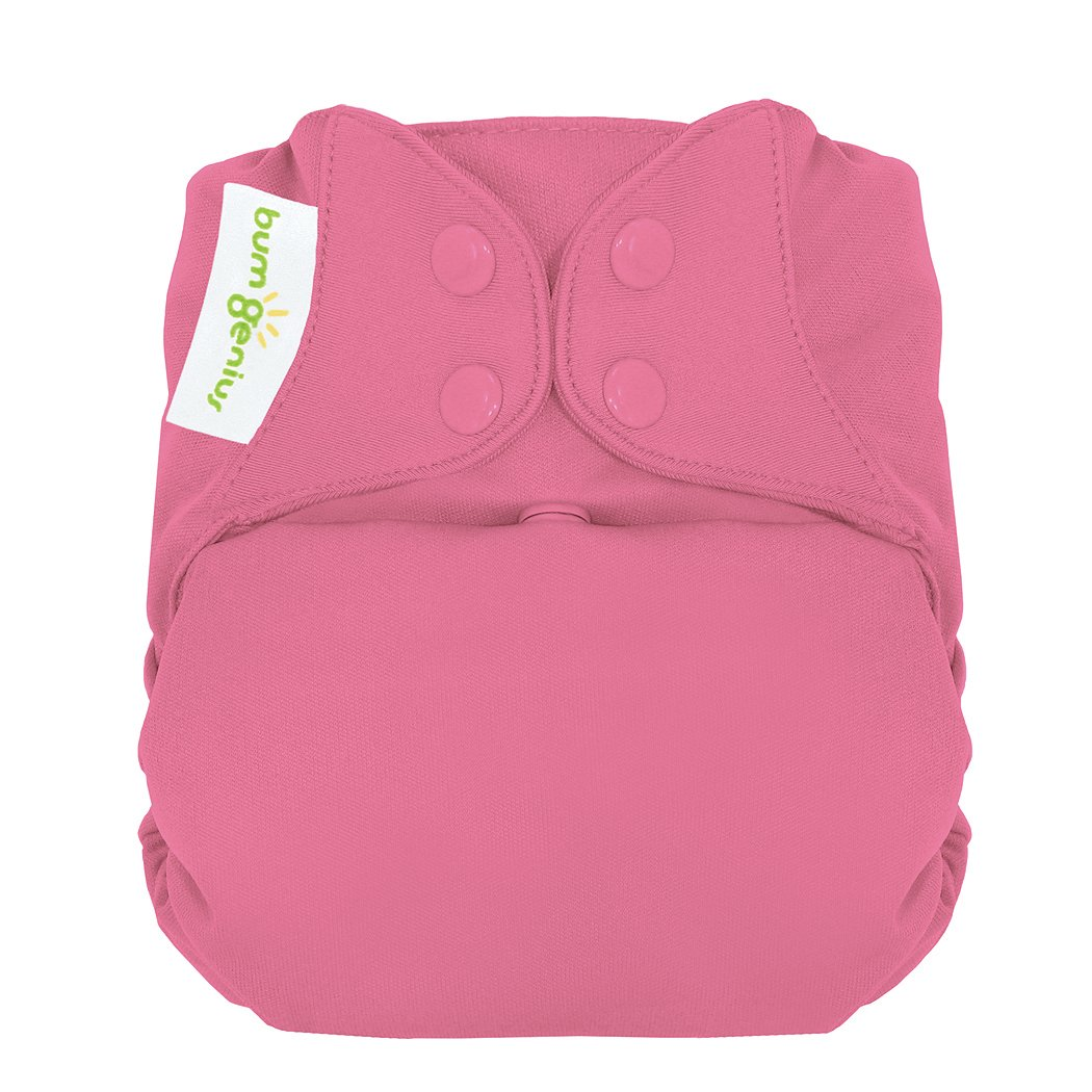bumGenius Freetime All-in-One One-Size Snap Closure Cloth Diaper (Zinnia)