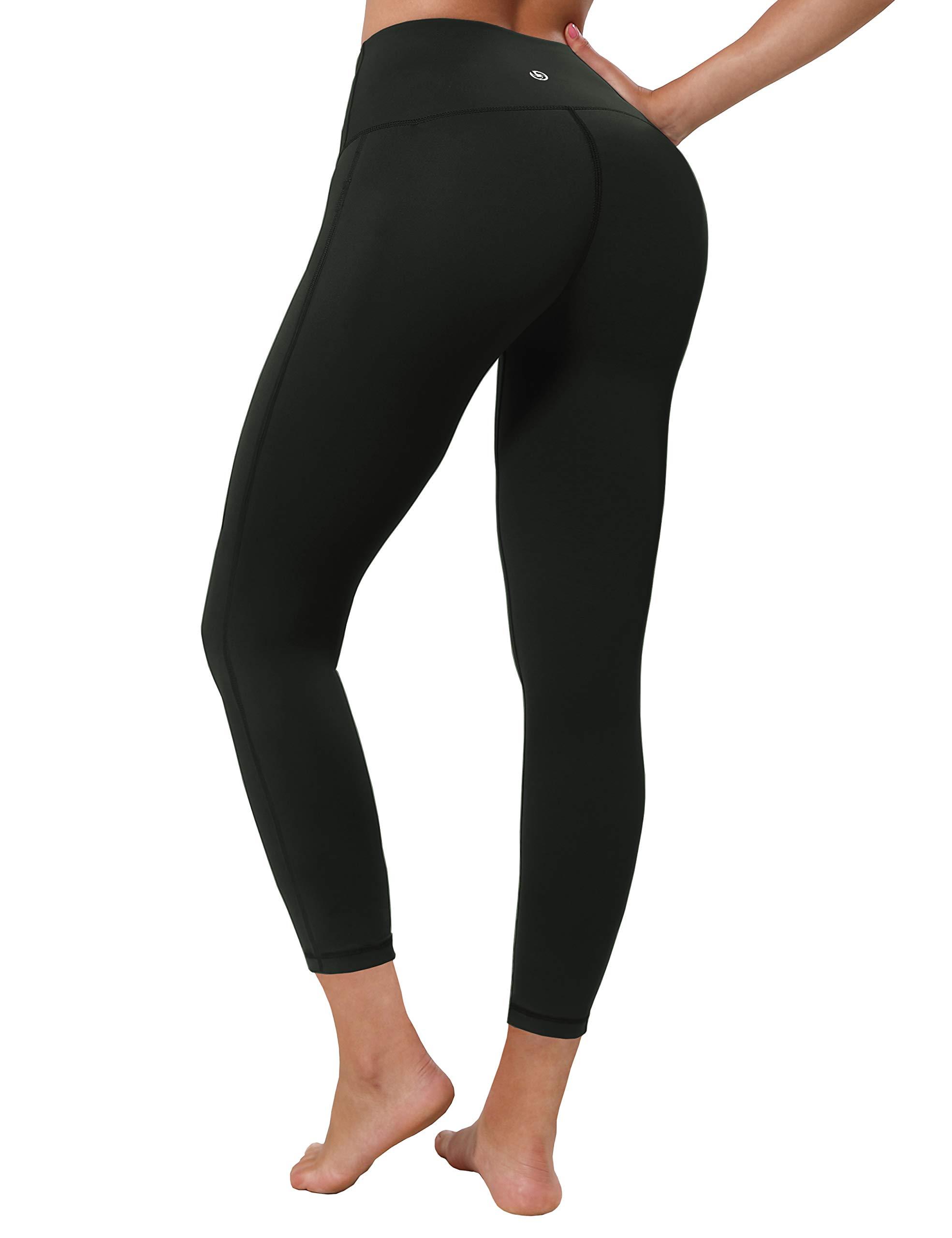 "BUBBLELIME 22""/26""/28"" Inseam Yoga Pants Inner Pocket Workout Running Leggings High Waist Single Line Long Pants"