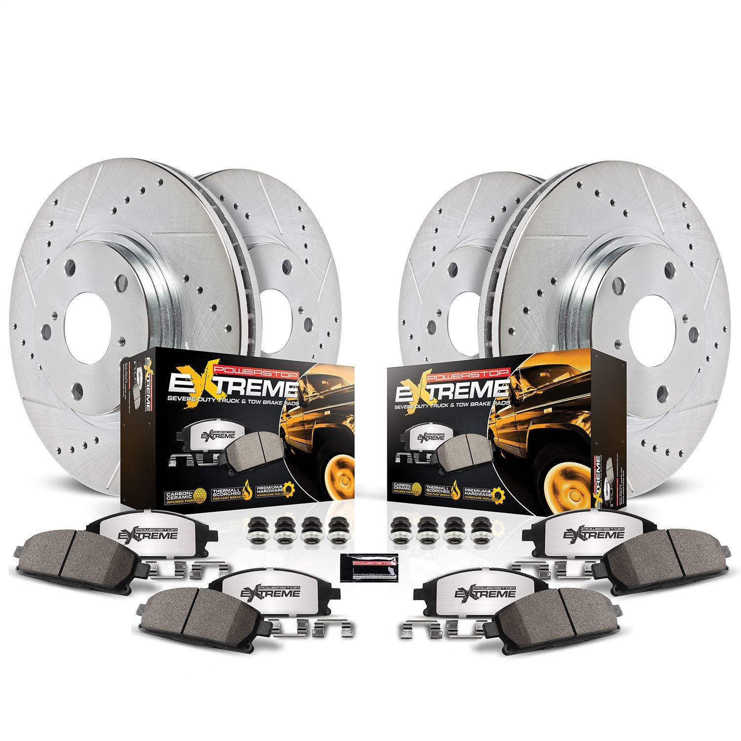 Power Stop K5573-36 Front & Rear Z36 Truck and Tow Brake Kit