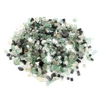 Stanbroil 10-Pound 1/4 Fire Glass Blended Onyx Black,Platinum,Light Green Reflective for Indoor and Outdoor Gas Fire Pits and Fireplaces