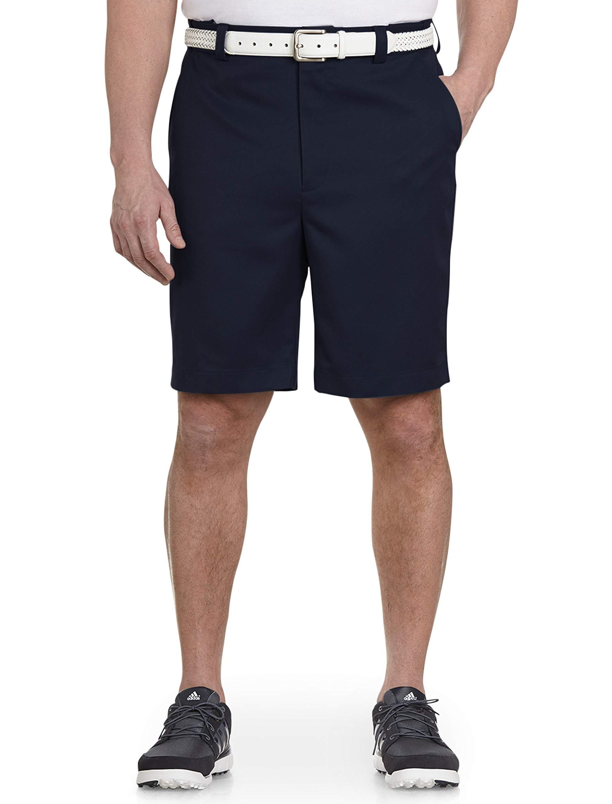 Oak Hill by DXL Big and Tall Flat-Front Waist Relaxer Microfiber Shorts
