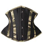 SHAPERX Women Short Torso Curvy Waist Heavy Duty Double Steel Boned Underbust Waist Trainer Corsets, SZ7093-Green-S