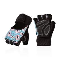 Vgo... Kids Half-Finger Breathable Skateboarding Gloves Outdoor Gloves with Anti-Slip Padding Palm (Blue, SL6084)