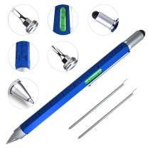 Cool Pen Gifts for Men, Cutier 6-in-1 Multi Tool Tech Pen Gadgets Tools for Men, Personalized Gifts for Dad or Him, Funny Gift for Christmas, Father's Day Valentines or Birthdays Gifts (Blue)