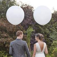 Large White Balloons 36 inch Latex Balloons, Pack of 12 Giant White Balloons for Wedding/Birthday/Baby Shower/Photo Shoot/Party Event Decorations