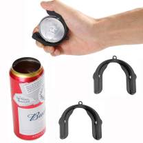 2PCS Upgrade Go Drink Topless Can Opener, Handheld beer can opener, can opener smooth edge for Kitchen, Bar, Party (Black)