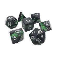 Forgotten Gems 7 Piece Polyhedral DND Dice Set by D20 Collective Dice for Table Top Dungeons and Dragons RPGs and Gaming