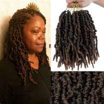 6 Pack Flyteng Pre-twisted spring twist crochet hair Ombre Colors 12 inch spring twist hair crochet braids 15 strands/pack Synthetic Braiding Hair Extensions