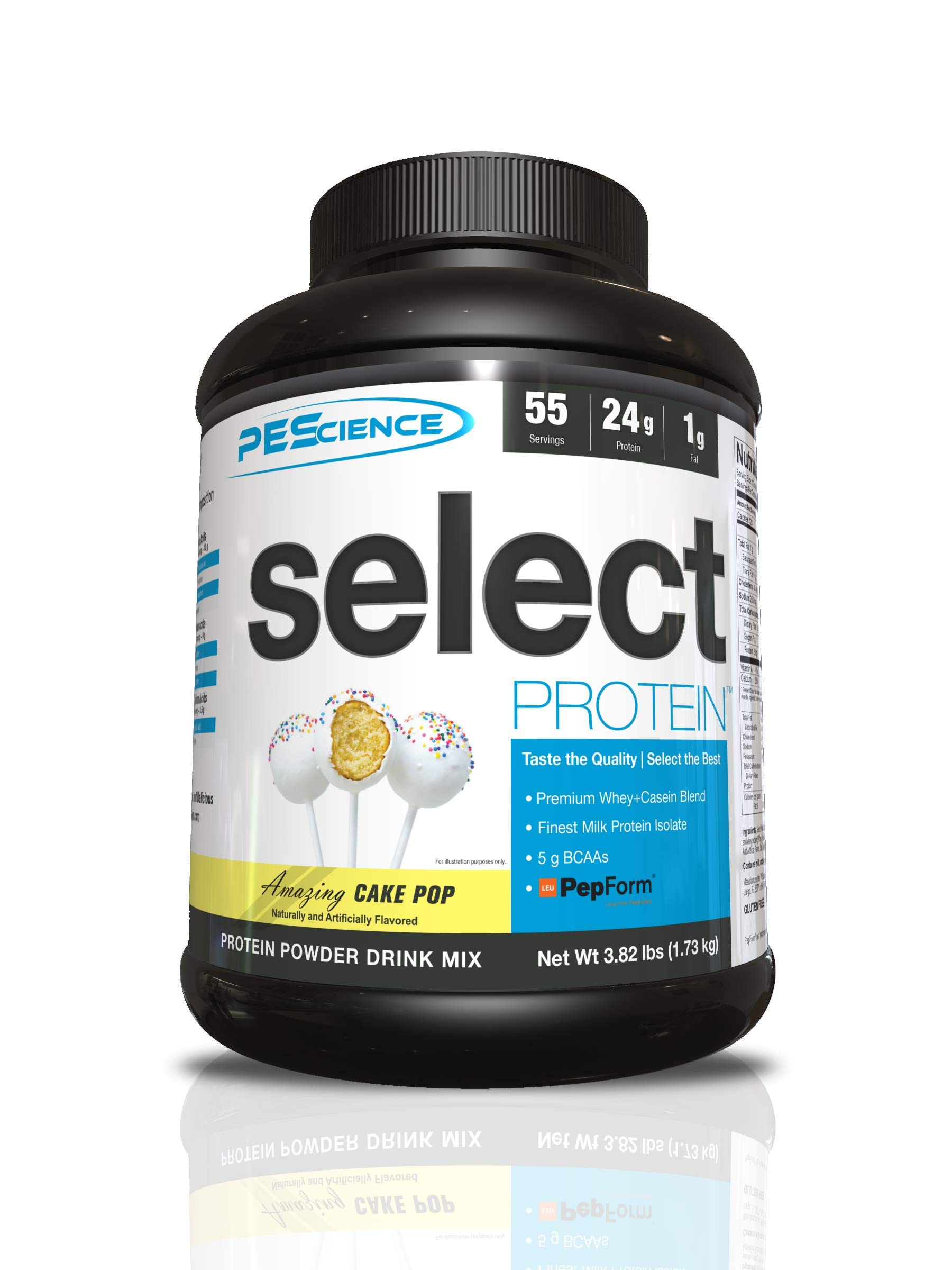 PEScience Select Low Carb Protein Powder, Cake Pop, 55 Serving, Keto Friendly and Gluten Free