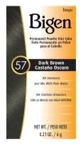 #57 Dark Brown Bigen Permanent Powder - 6 Pack
