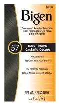 #57 Dark Brown Bigen Permanent Powder - 6 Pack