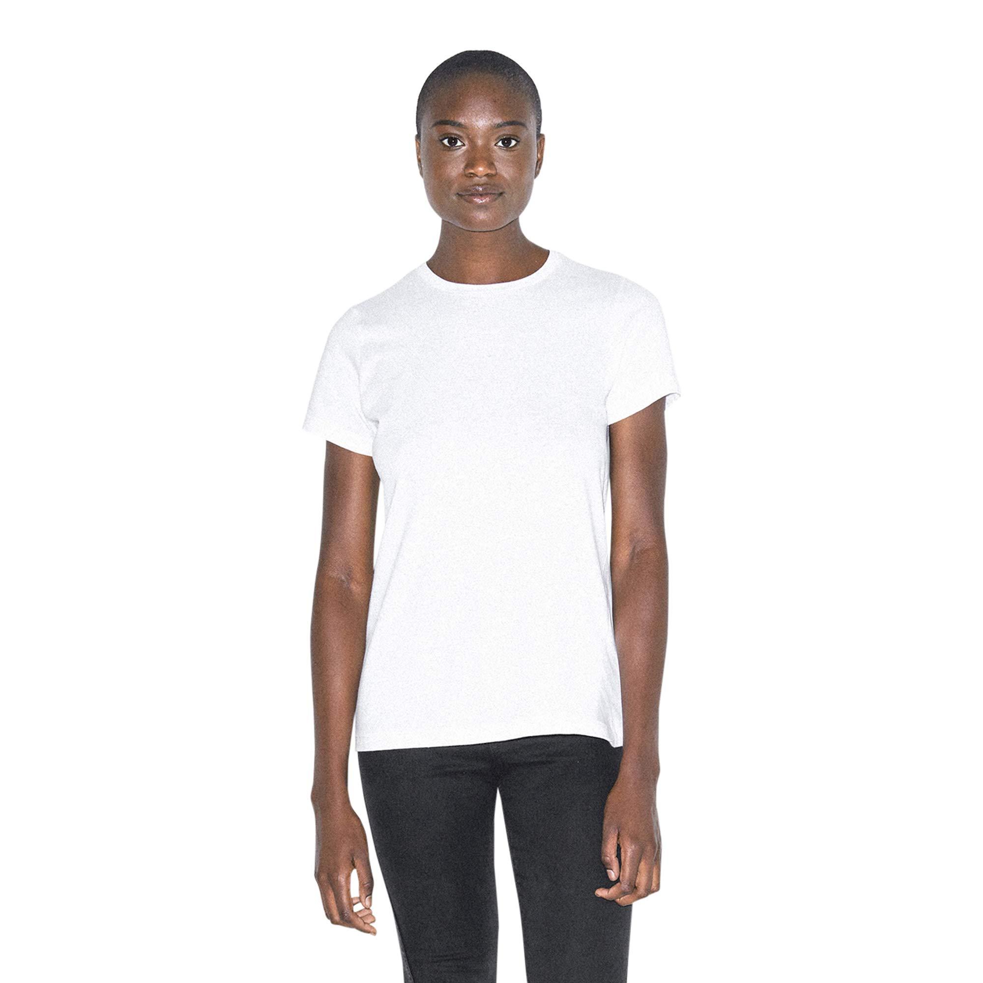 American Apparel Women's Organic Fine Jersey Classic Crewneck Short Sleeve T-Shirt