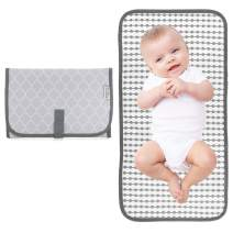 Baby Portable Changing Pad, Diaper Bag,Travel Mat Station, Grey Compact