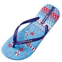 Hotmarzz Women's Totem Animal Puzzle Poker Prints Flip Flops Beach Slippers Summer Thong Sandals