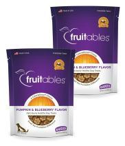 Fruitables Baked Dog Treats Pumpkin & Blueberry Flavor (2 Pack) 7 oz Each