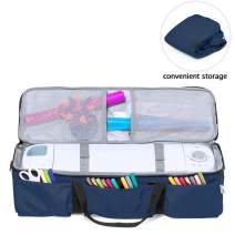 Luxja Carrying Case for Cricut Explore Air (Air2) and Maker, Foldable Bag for Cricut Explore Air (Air2) and Supplies (Bag Only), Dark Blue