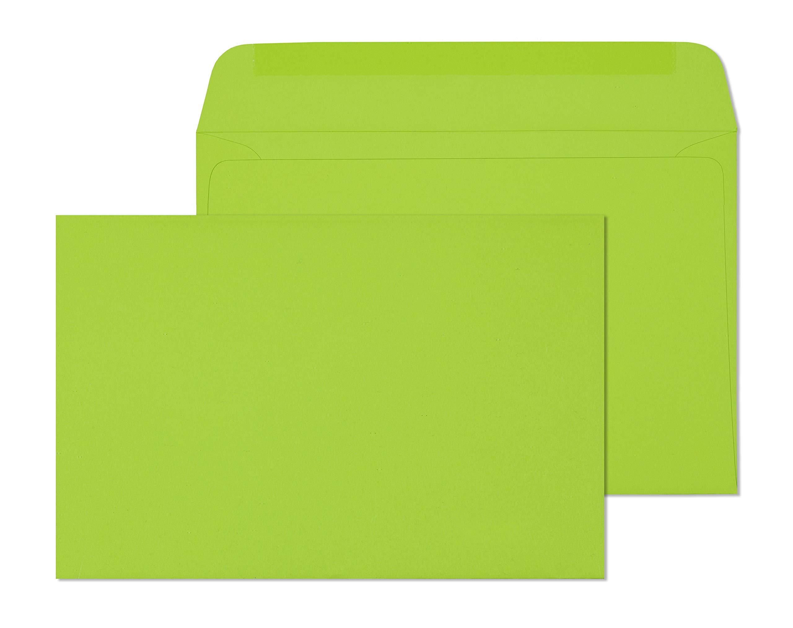 6X9 Envelope Color Blank Open Side-Greeting Card Invitation Envelopes-25 Pack (Lime)