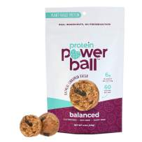 Protein Power Ball | On-the-Go Snacks | Gluten Free, Dairy Free, Soy Free Snack | High Protein Energy Bites (Oatmeal Cinnamon Raisin, 2 Pack)