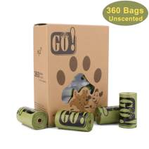 """GO! Dog Poop Bags,Dog Waste Bags,Leak Proof, 9""""x 13""""/11""""x 15"""" Refill Rolls Bags,Scented/Unscented Pet Poop Bags"""