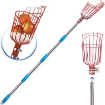 COCONUT Fruit Picker Tool, Fruit Picker with Basket and Pole Easy to Assemble & Use Fruits Catcher Tree Picker for Getting Fruits(5ft)