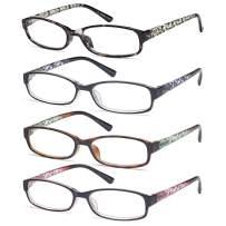 Gamma Ray Women's Reading Glasses 4 Print Ladies Fashion, 4 Pack, Size 5.0