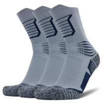 AUDTOPEM Men's Basketball Socks for Running, Athletic, Hiking (3 Pairs)