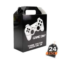 24 Piece Set of Gaming Party Goody Bags for Treats, Favors, Goodies Supplies for Kids Birthday, 7 x 6.5 x 3 Inches
