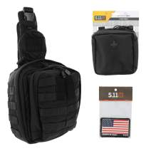 5.11 RUSH MOAB 6 Tactical Sling Pack Med First Aid Patriot Bundle - Black