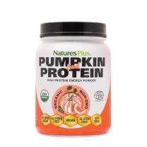 NaturesPlus Organic Pumpkin Seed Protein - .95 lbs Vegan Protein Powder - High Energy Protein Supplement, Promotes Prostate Health, Soothes Menstrual Discomfort - Vegetarian, Gluten-Free - 15 Servings