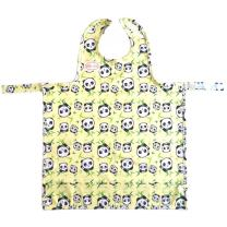 Bib-On, Full-Coverage Bib and Apron Combination for Infant, Baby, Toddler Ages 0-4. (Pandas)