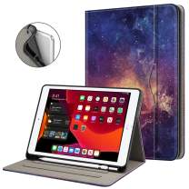 "Fintie Folio Case for New iPad 7th Generation 10.2 Inch 2019 with Built-in Pencil Holder - Multi-Angle Viewing Soft TPU Smart Stand Back Cover with Pocket, Auto Wake/Sleep for iPad 10.2"", Galaxy"