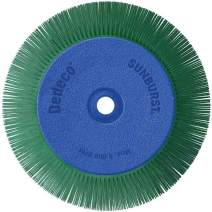 """Dedeco Sunburst - 8"""" x 1"""" TS Radial Bristle Discs - 1/2"""" - Industrial Thermoplastic Rotary Cleaning and Polishing Tool, 5/8"""", 3/4"""", 7/8"""" and 1"""" Arbor, Extra-Coarse 50 Grit (1 Pack),"""