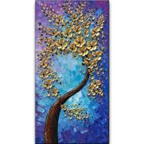 """baccow 2040"""" 3D Textured Trees Paintings Contemporary Art Abstract 3D Hand Painted Oil Painting On Canvas Wall Art Framed"""