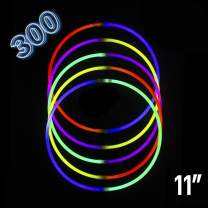 """Glow Stick   Glow in The Dark   Light Stick Bulk Party Supplies Favors Necklaces Bracelets Glowstick Neon Toys for Kids 11""""-300 Pack"""