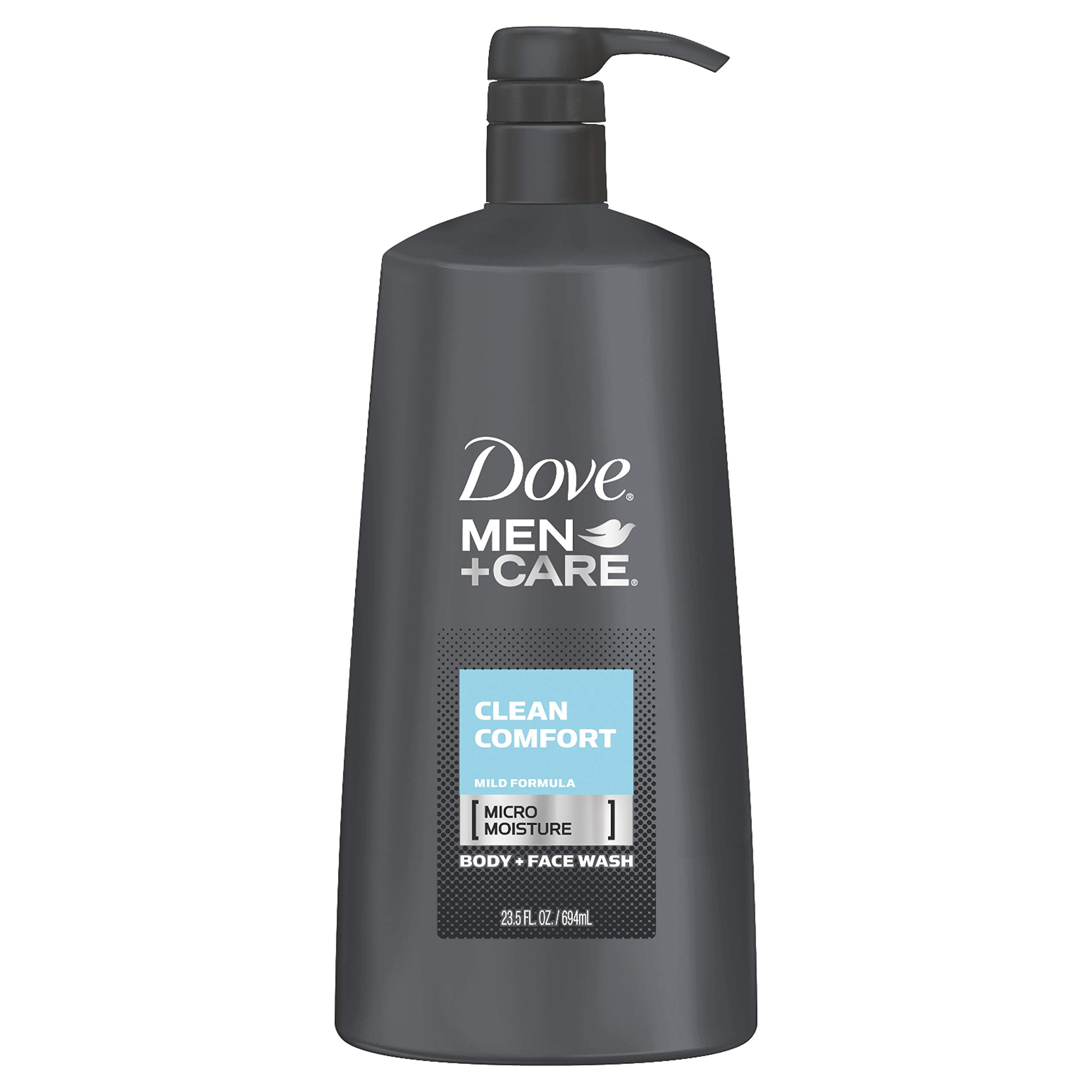 Dove Men+Care Body and Face Wash Pump For Healthier and Stronger Skin Clean Comfort More Moisturizing Than Typical Bodywash 23.5 oz