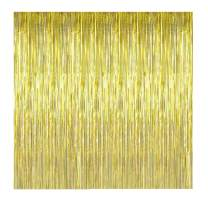 UTOPP 2 Pack Graduation Gold Photo Backdrop, 3ft x 8 ft Shiny Metallic Gold Tinsel Party Door Curtain Photo Booth Props Birthday Wedding Bridal Baby Shower Party Decorations