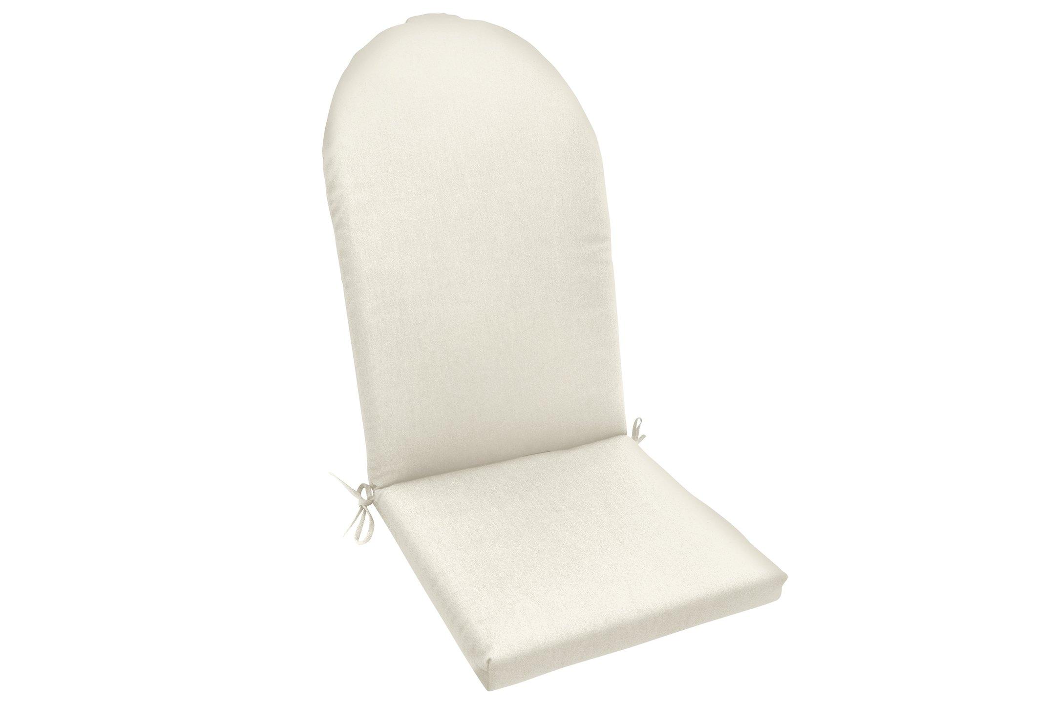 "Amazon Custom Furnishings x Easy Way Products 19479U-E5404 Custom Knife Edge Adirondack Chair Cushion, 47"" Length x 22"" Width, Sunbrella Canvas Natural"