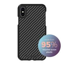 Ocean75 Eco-Friendly Designed for iPhone X, iPhone Xs Case, Ocean-Inspired Sustainable Phone Cover Made from Recycled Fishing Nets – Deep Black