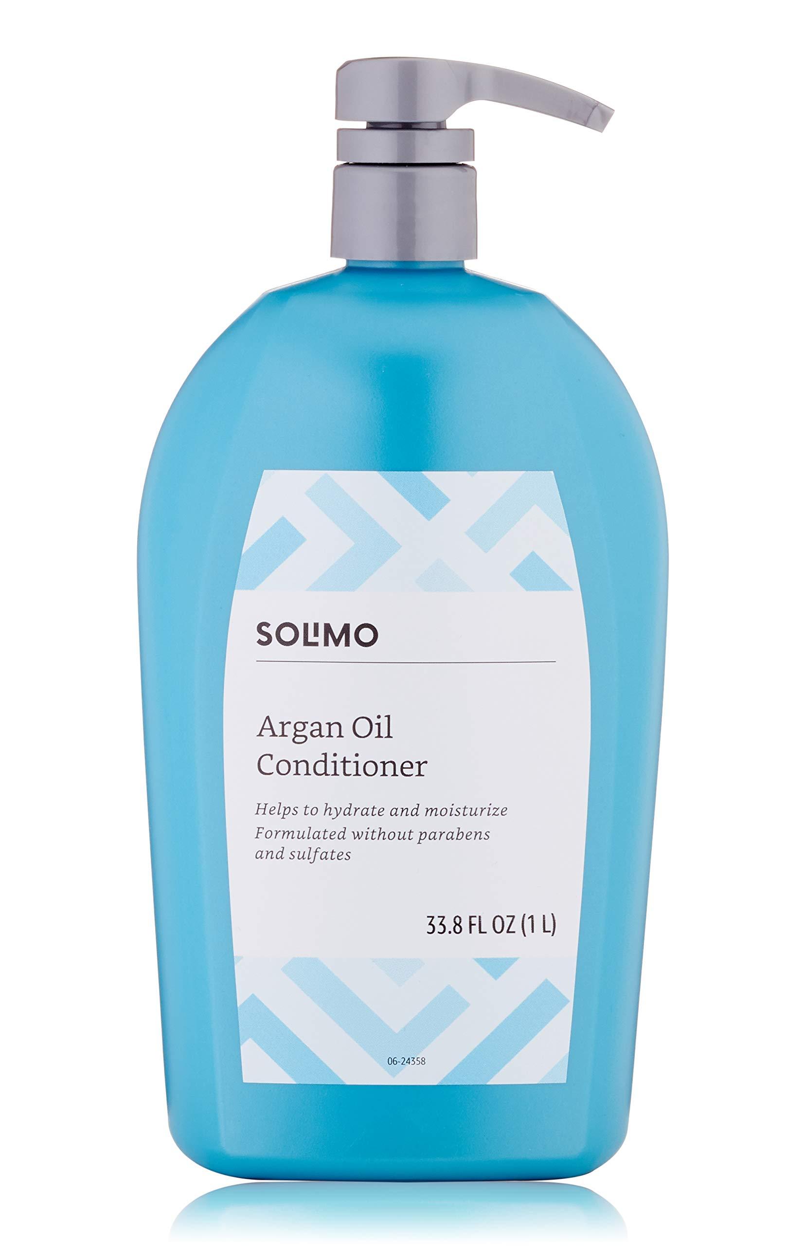 Amazon Brand - Solimo Argan Oil Conditioner, 33.8 fl. oz