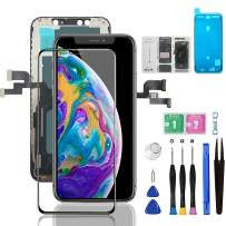 for iPhone Xs Screen Replacement LCD 5.8 inch with 3D Touch Screen Assembly Set for A1920, A2097, A2098, A2099, A2100. Repair Tools Kit+ Waterproof Frame Adhesive Sticker+Screen Tempered Protector