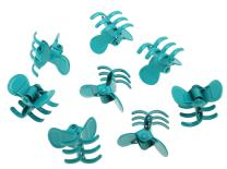 L. Erickson Clip & Go Mini Metal Jaw Hair Clips, Aqua, Set of 8 - Strong Hold For Easy Styling Solutions