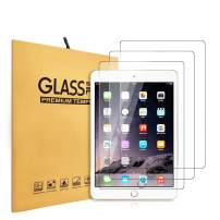 iPad 9.7 2nd 3rd 4th Gen 2012-2014 Screen Protector, KIQ [3 Pack] Tempered Glass Anti-Scratch 9H Toughness Scratch-Resist Easy-to-Install Self-Adhere GLASS For Apple iPad 9.7-inch 2/3/4
