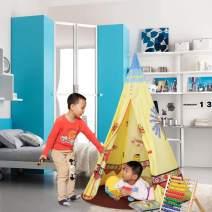 ALPIKA Castle Play Tent Indoor Outdoor Kids Playhouse for Children (Yellow)