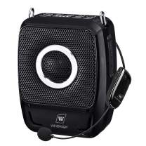 Wireless Portable PA System Microphone and Speaker Set- 25W Rechargeable Bluetooth Voice Amplifier Loudspeaker with Portable Headset, Mini Karaoke Machine Amp for Classroom/Teachers ect