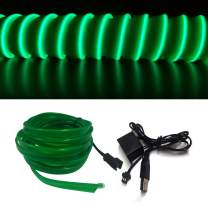 M.best El Wire USB Neon Light for Automotive Interior Car Decoration with 6mm Sewing Edge (3M/9FT, Green)