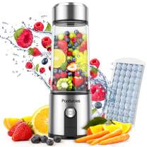 Portable Blender Glass, PopBabies Smoothie Blender to go, Rechargeable USB Blender with travel, Wireless Personal Blender Protein Shaker 5200mah