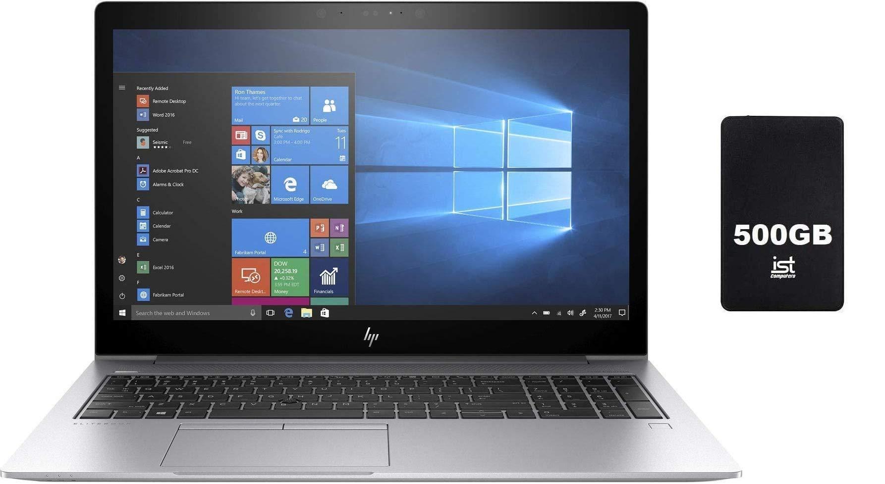 "2019 HP Elitebook 850 G5 15.6"" Full HD FHD Business Laptop (Intel Quad-Core i5-8250U, 16GB DDR4 RAM, 512GB PCIe NVMe M.2 SSD) Fingerprint, Backlit, Thunderbolt, HDMI, Windows 10 Pro+IST 500GB"