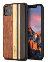 YFWOOD Compatible for iPhone 11 Case 6.1 Inch Unique Wood Shockproof Bumper Protection Cover for iPhone 11